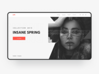 INSANE SPRING Home page concept