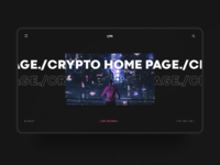 Crypto home page concept