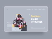 Web studio page concept
