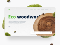 Eco woodwork workshop. Concept page