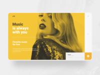 Free Music Website concept
