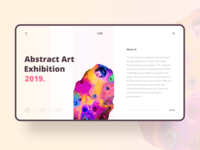 Abstract Art Exhibition Concept Page
