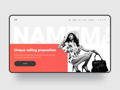 Shop web-design concept