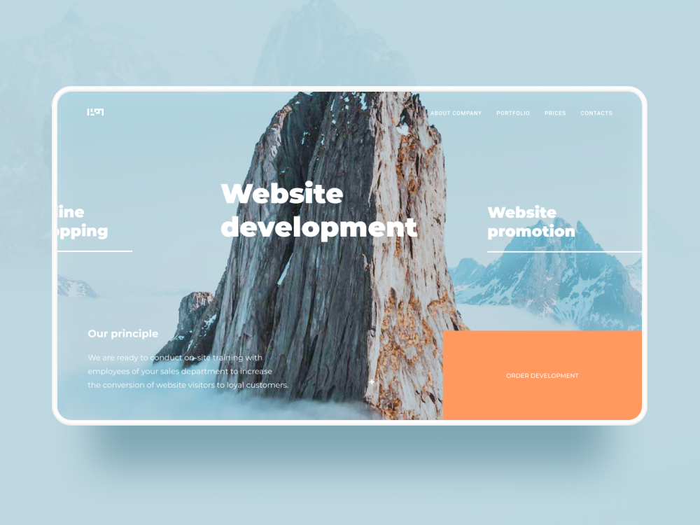 Web Studio / homepage concept digital webstudio web design website minimalism web typography ux ui figma design