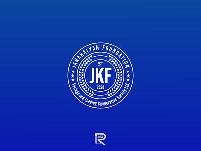 Foundation Logo Design: JKF (Janakallan Foundation) simple logo english super logo english super logo best logo iconic logo classical logo un style logo un style logo flora desing flora desing best monogram logo design circle logo monogram logo