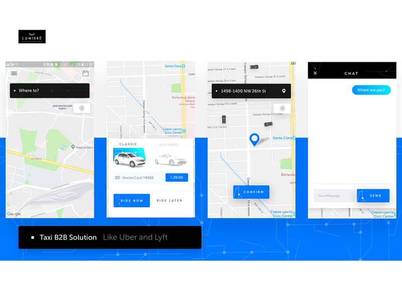 Taxi Solution App Design by Lumiere Solutions on Dribbble