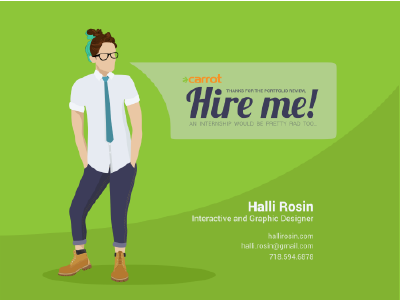 Thank you, Carrot Creative! by Halli Rosin | Dribbble | Dribbble