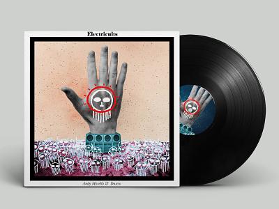Electricults Vinyl vinyl album cover illustration art digitalpaint digitalart digital art artwork nooz illustration