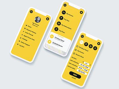 App Parking and ZTL user center design ui  ux design ui deisgn ux iphone design nooz app
