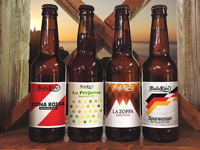 Malaripe Labels label packaging labeldesign product design beer branding beer art graphicdesign branding vector logo photoshop digital art nooz artwork