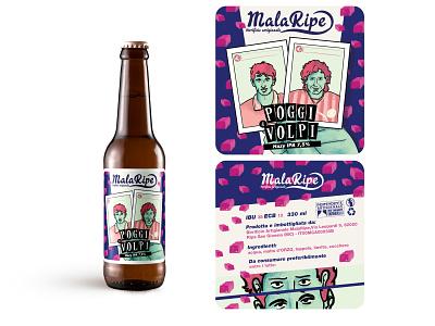 Poggi e Volpi label design label beer branding beer illustrations photoshop illustration art design digitalpaint digitalart digital art nooz illustration artwork