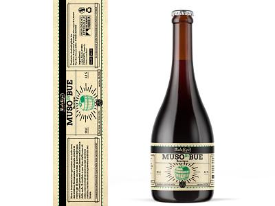 Muso Di Bue bottle beerbottle beer branding craftbeer label beer branding logo photoshop digitalart artwork
