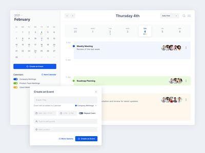 Calendar app - Desktop version clean design calendar calendar app schedule planning calendar ui desktop app clean ui meeting ui app concept concept