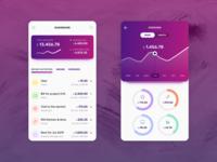Expense Manager ui app concept mobile design mobile app budget expense manager