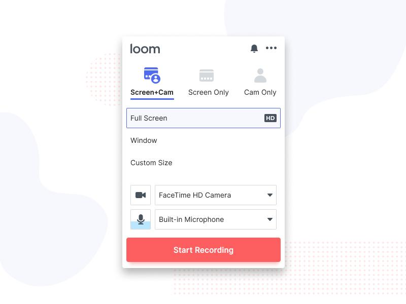 Video Recording Settings screen recorder settings video recording app ui