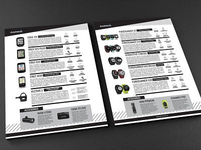 Garmin Brochure   Folleto Garmin print ad design garmin brochure design