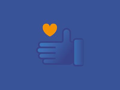Hello Dribbble! love heart hand svg web illustration ui icon hello dribbble hello