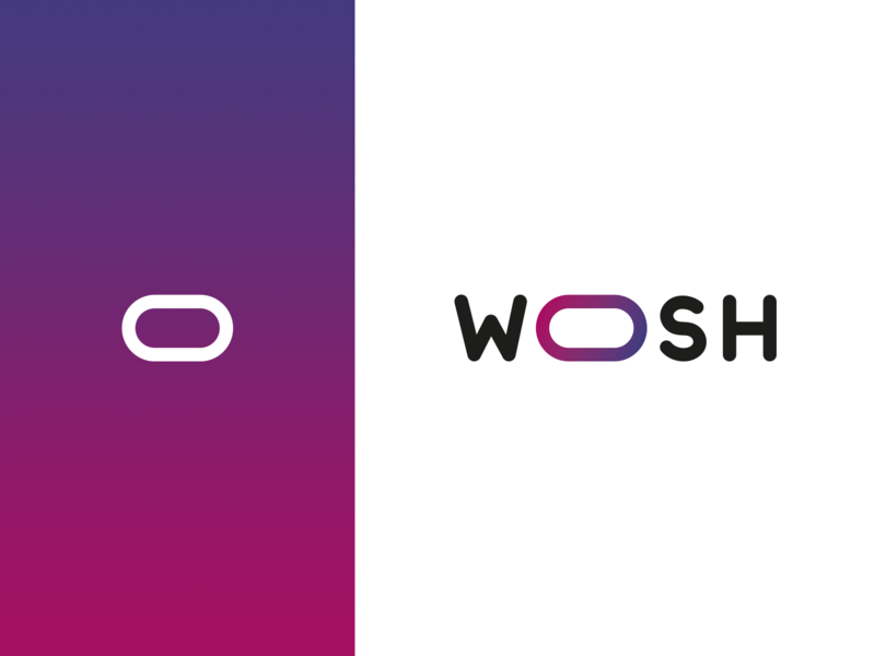 Woosh, concept identity typography branding concept logo