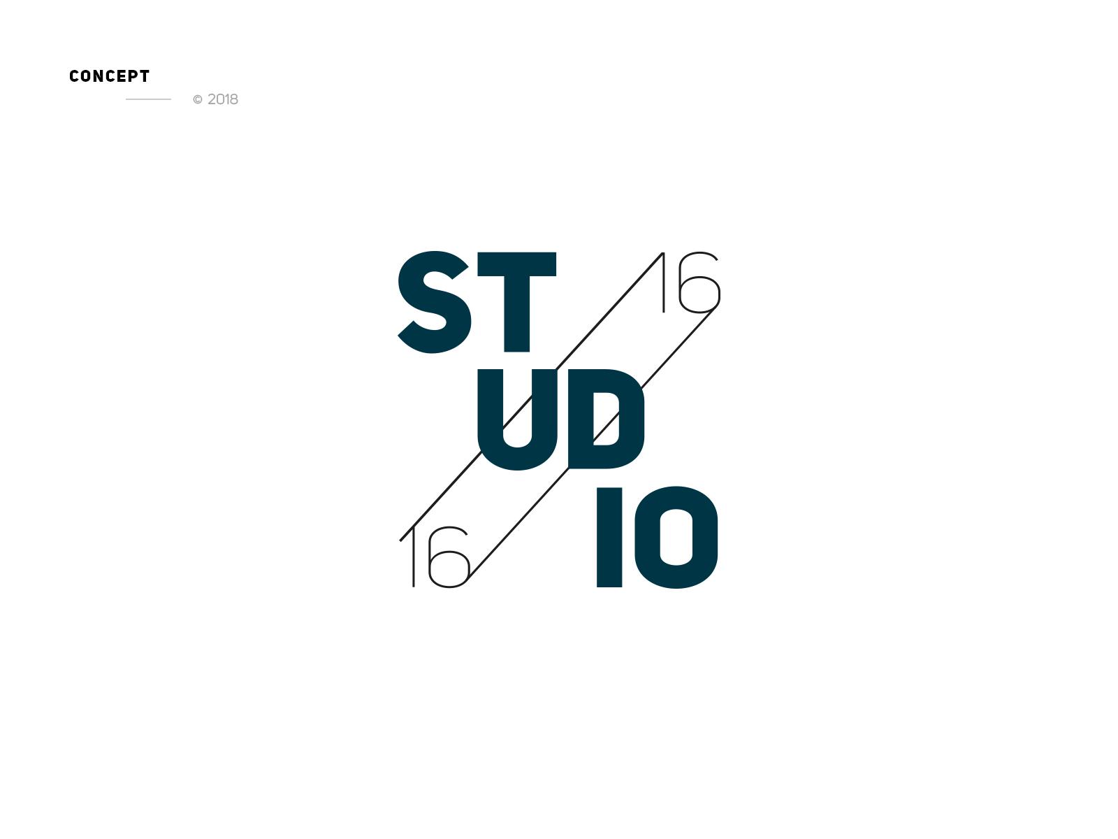 Studio1616, concept studio arcchitecture typography logo identity conecpt branding