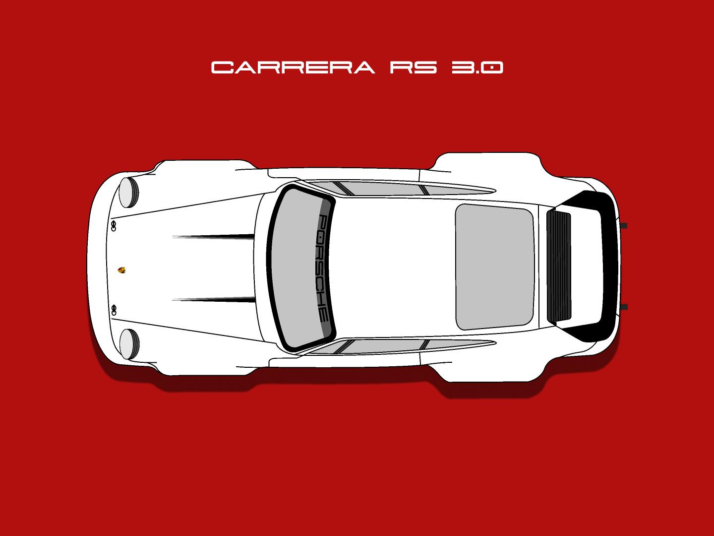 Carrera RS 3.0 carrera redux cars wheels vehicle vector oldtimer nostaliga minimal illustration