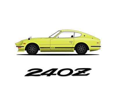 Datzun 240z illustration