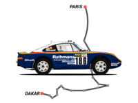 Porsche 959 Paris-Dakar (1985) illustration