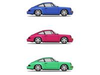 Porsche 964 illustration