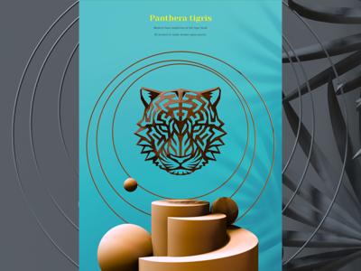 3d Printed Tiger Head