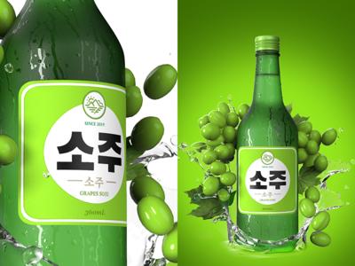 Korean Fruit Soju - Grapes