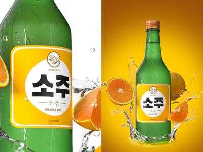 Korean Fruit Soju - Orange