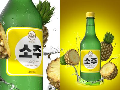 Korean Fruit Soju - Pineapple