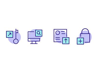 Custom blockchain icons website icon ui illustration design blockchain icon design icons