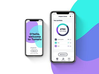 Investment App UI and Branding tumelo app design app social investment ux design investment branding ux ui