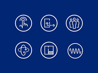 Sensor icons icons website ui design vector illustration icon