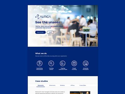 Landing page for analytics startup alitica adobe xd landing page icon design web website ux branding icons ui design