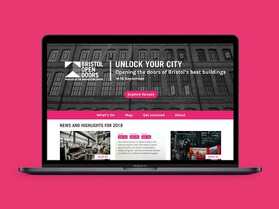 Bristol Open Doors web design web ux website ui design