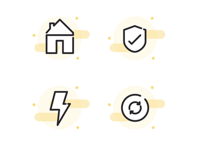 Home Finance Icons website finance app home finance icon design vector illustration icons ui icon design