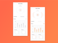 Audio Settings dailyui007 dailyui settings page settings headphones 007 daily 100 ui design