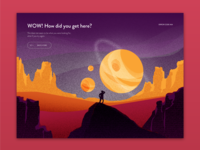 404 Page vector 404 error page 404 page 008 dailyui daily 100 illustration ui design