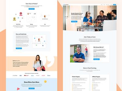 Partner's Page | HomestayMatch webapp testimonial responsive web design design marketing site landing marketing website design ui clean hero section marketing agency website web