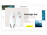 Second & Smith - design exploration for used surfboard retailer
