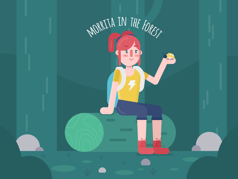 Morrita in the Forest drawinyourstyle illustration illustration vector character design flat design