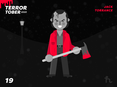 19. Jack Torrance - Terrortober2020 horror art terror art jack torrance the shinning illustration illustration vector character design flat design