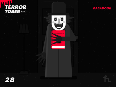28. Babadook - Terrortober2020 babadook illustration illustration vector character design flat design