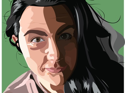 Self Portrait selfportrait vector illustration