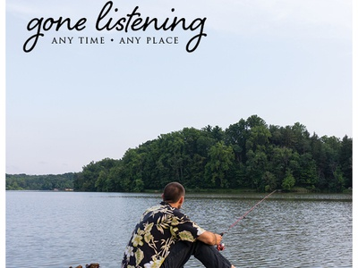 Magazine Ad nature serenity peace listening fishing radio kickstarter creative editing print advertisement magazine ad product
