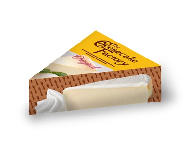 Individual Slice Cheesecake box individual buy store box cheesecake factory packagedesign packaging product brand food