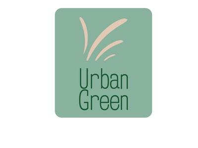 Urban Green Logo print design wordmark illustrator illustration logo