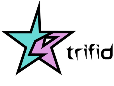 Triffid Records Logo fictional creative layout music record company electronic star illustrator illustration design icon wordmark logo