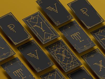 Genius - P branding typography picasso type design